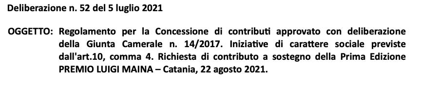 """60 mila euro di fondi pubblici per il """"Premio Luigi Maina"""""""